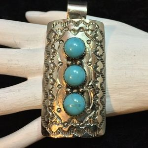 Navajo Turquoise Pendant #159 by Begay